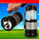 Electronic Camping multifunkční solární přenosná lampa se zářivkou