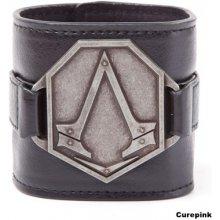 Náramek na zápěstí Assassins Creed: Kovové logo koženka 322685 CurePink