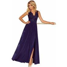 43d9b7861f1d Společenské dámské šaty bez rukávů krajkové dlouhé tmavě modrá
