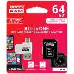 Goodram microSD 64GB UHS-I + adaptér M1AA-0640R11
