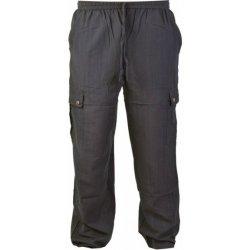 Pánské džíny unisex kalhoty s kapsami elastický pas Černé c51cf6253d