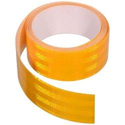 Samolepící páska reflexní dělená 5m x 5cm žlutá