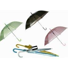 Průhledný deštník dětský Zelená