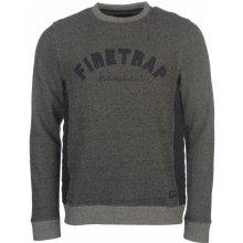 Firetrap Twist Crew Sweater pánské, charcoal, S