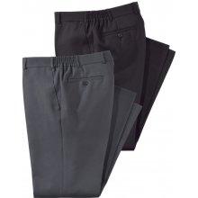 Kalhoty, 2 ks Men Plus černá-šedá