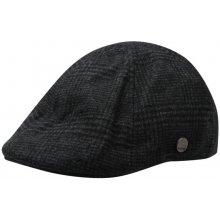 Firetrap Gatsby Flat Cap Mens Black Check