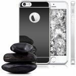 Pouzdro Beweare Zrcadlové silikonové iPhone 5 5s SE černé