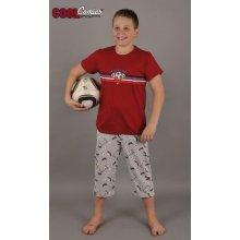 Vienetta Secret chlapecké pyžamo Fotbal Kapri Tříčtvrteční Modrá