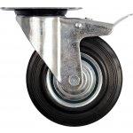 Otočné kolečko s brzdou, gumové 150kg 200/46/235mm