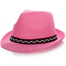 Dámský klobouk Fedora Pink 1542 f5d2bd3147