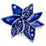 Norské motivy - tmavě modré keramické ozdoby kůň