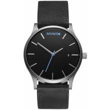 MVMT Black / Silver Leather