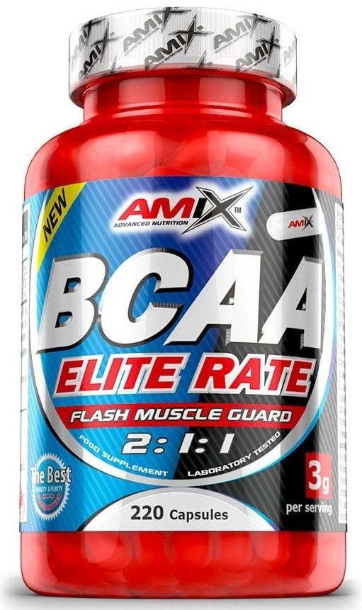 Výsledek obrázku pro Amix BCAA Elite Rate 220 cps