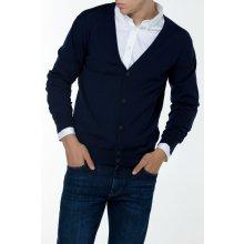 Gant Pánský svetr FINE MERINO CARDIGAN modrá M
