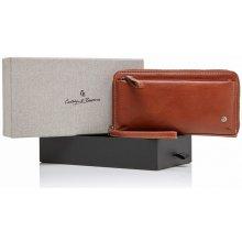 Castelijn & Beerens Dámská kožená peněženka RFID v dárkové krabičce 805518 LB koňak