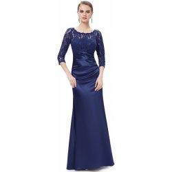 Ever Pretty elegantní večerní šaty s tříčtvrtečními rukávy EP09882NB  námořnicky modrá 9343120266