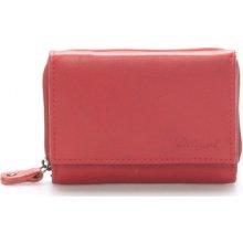 Delami Peněženky Kožená červená peněženka 8230 Červená