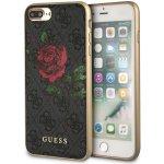 Pouzdro Guess iPhone 8 PLUS / 7 PLUS / 6S PLUS / 6 PLUS - 4G Flower Desire Back šedé