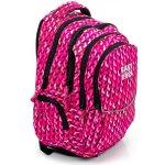 EASY batoh tříkomorový růžový vzor