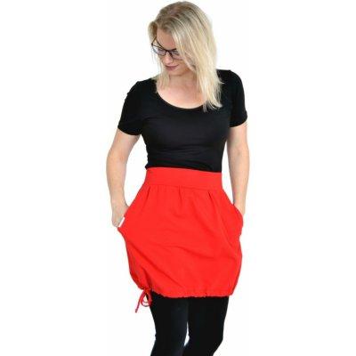 Balonová sukně Brisa / červená s kapsami