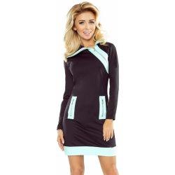 62b6fb0cee5 Numoco dámské šaty Zippy se třemi zipy mentolovočerná alternativy ...