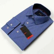 Modrá pánská košile dlouhý rukáv vypasovaný střih Native 120005 00bb065f18