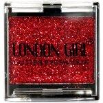 LONDON GIRL Flitrové oční stíny Mono Červené GLITTER Eyeshadow 15 4,5 g