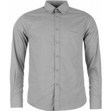 Pierre Cardin Long Sleeve Shirt Mens Grey Stripe