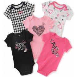 baaab0ece04 Calvin Klein luxusní oblečení pro miminko Assorted Short Sleeve růžová