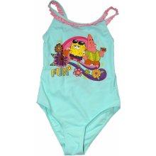 Sun City, dívčí jednodílné plavky Sponge Bob tyrkysové