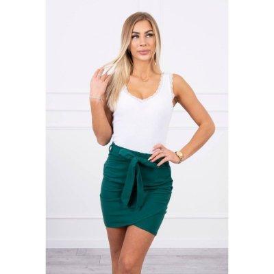 Dámská sukně provázaná v pase MI8984 zelená