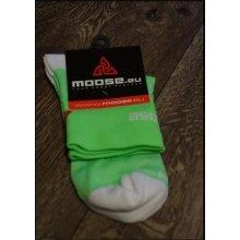 Moose - ponožky SMILE FLUO zelená bílá 8bf1af5315