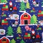 Bavlněný flanel Michael Miller s Vánočními motivy
