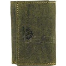 Greenburry Kožená mini peněženka 337-30 olivová
