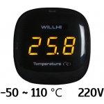 Willhi WH1510A Vestavný digitální teploměr -50 ~ 110 ℃ 220V