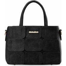 59e56de356b elegantní dámská kabelka zarka kufřík aktovka 3d černá