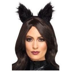 769ec2e98aa Karnevalový kostým Čelenka Kočičí uši chlupaté
