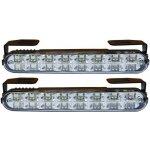 4 car Světla pro denní svícení 2x16 LED, 12V / 24V