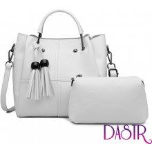 da18d947d Miss Lulu luxusní béžový dámský kabelkový set 2v1