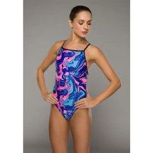 Maru Speed Back Swimming Costume Ladies Galaxy Swirl