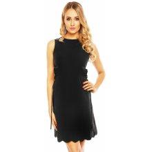 Allyson dámské šaty bez rukávu s průstřihy v pase středné dlouhé černá a4f04871ca