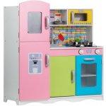 EcoToys Dřevěná kuchyňka pro děti s příslušenstvím Barevná