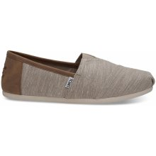 TOMS Oxford Tan Chambray Trim Alpargatas hnědé 10011579
