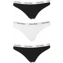 24502b0988c Calvin Klein Dámské kalhotky tanga Carousel 3-pack black white