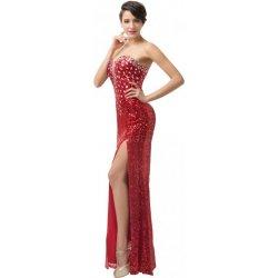 Grace Karin sexy večerní šaty s rozparkem CL6102 Červená alternativy ... 7417d6ee71