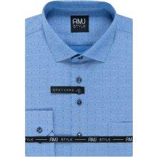 AMJ Pánská Košile modrá s šipkami VDP1014 783c34daa0