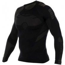 Brubeck Dry Mens LS Shirt LS13080 graphite-black pánské triko