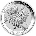 Kookaburra Stříbrná mince 1 AUD Australian Ledňáček 1 Oz 2018