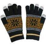 Aligator Nordic rukavice na dotykový displej hnědé