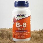 Now Vitamin B6 Pyridoxin 100 mg x 100 kapslí